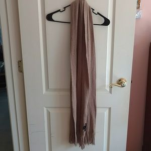 Tan Scarf with Gold Speckles